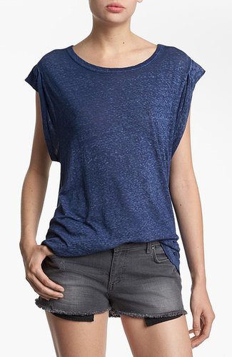 Leith Roll Sleeve Off Shoulder Tee