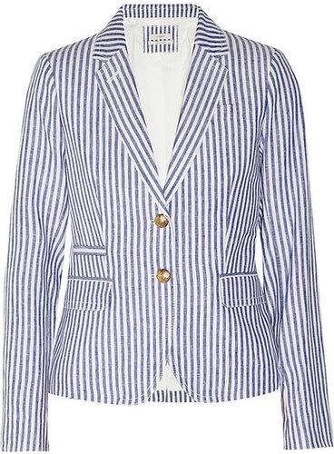 J.Crew Striped linen blazer