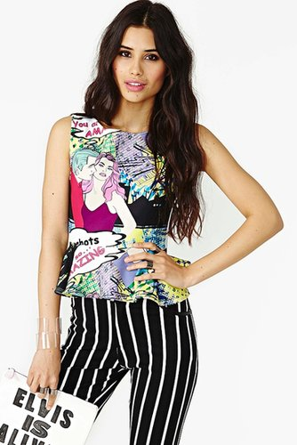 Pop Culture Peplum Top
