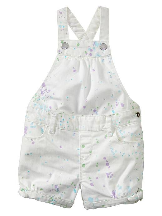 Gap Splatter Denim Shortalls