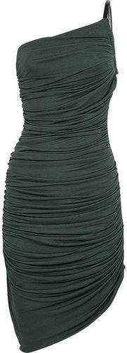 Halston Heritage Asymmetric ruched jersey dress