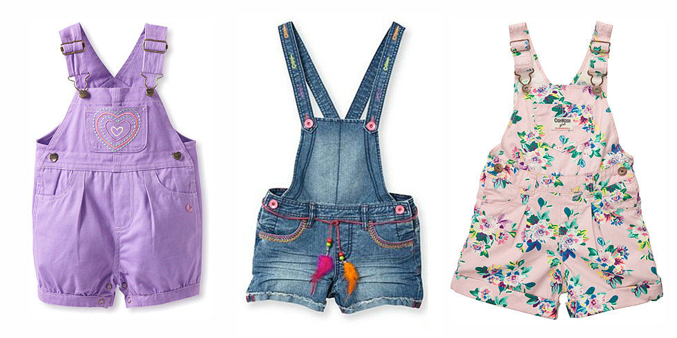 Sweet Summer Shortalls For Girls