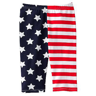 If you're headed to the beach or somewhere with a chill, keep her warm with these ultrafestive Jumping Beans stars and stripes leggings ($7, originally $16).