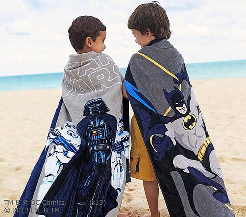 Super Hero & Star Wars Beach Towel & Wrap Collection