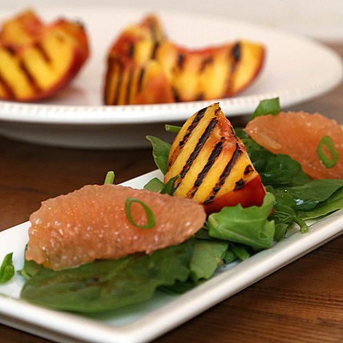 Grilled Peach Salad With Grapefruit Vinaigrette
