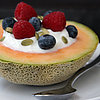 Healthy Breakfast Idea: Yogurt-Filled Cantaloupe