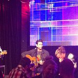 Jess hit a Telstra event on Wednesday night, and took in an intimate performance by muso Pete Murray.