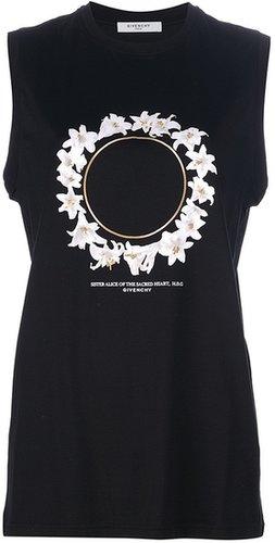 Givenchy sleeveless floral t-shirt