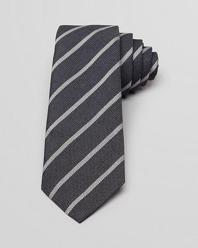 Theory Linen Silk Wide Stripe Skinny Tie