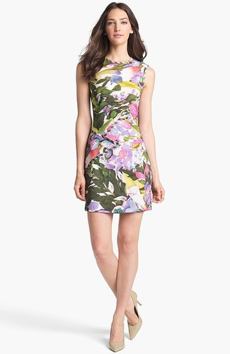 Nicole Miller Floral Print Sheath Dress