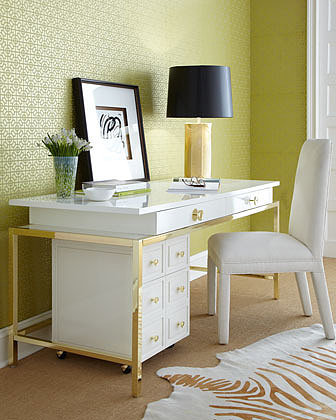 """Lilly Pulitzer Home """"Aster"""" Office Furniture"""