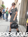 Miranda Kerr wore a cutout dress in NYC.