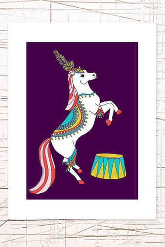 East End Prints: Circus Horse Wall Art