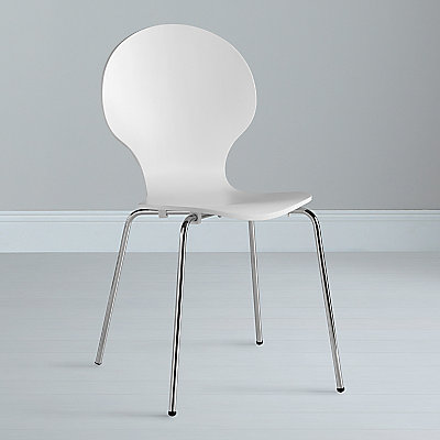 John Lewis Value Curve Chair, White