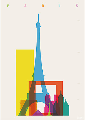 House by John Lewis, Yoni Alter Paris Unframed Print, 30 x 24cm