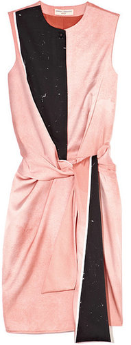 Preorder Opening Ceremony Echo Draped Watercolor Dress In Blush