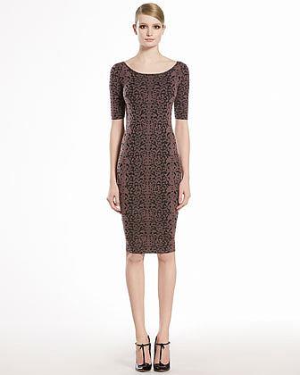 GUCCI Jacquard Lace Dress