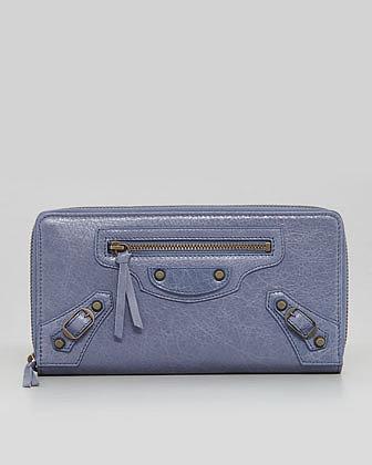 Balenciaga Classic Continental Zip Wallet, Jacynthe