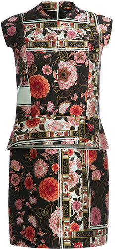 Preorder Ellery Black And Rose And White Song Dress