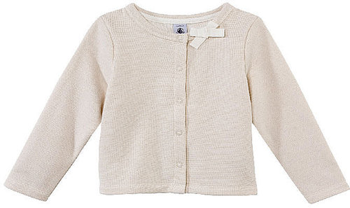 Girl'S Fleece Cardigan With Bow