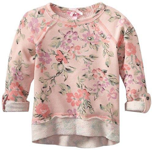 Sugartart Love Girls 2-6X Floral Sweatshirt with Meshback