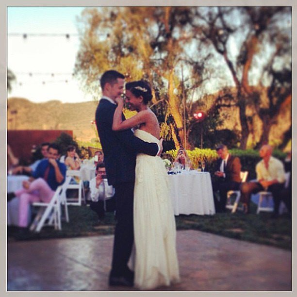 Damien Fahey danced with his bride, Grasie Mercedes, during their June wedding. Source: Instagram user damienfahey
