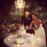 Damien Fahey and Grasie Mercedes cut the cake. Source: Instagram user bradleymeinz