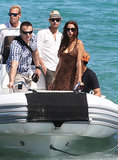 Ryan Seacrest and Dominique Piek traveled with a group of friends.