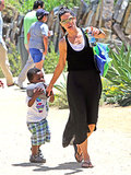 Sandra and Louis Bullock spent a day at the museum together.