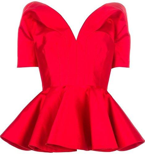 Alexander McQueen structured peplum blouse