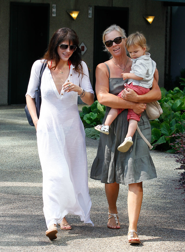 Selma Blair went to Malibu with her son, Arthur.