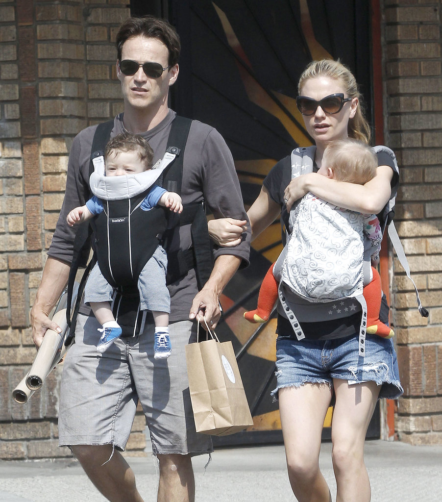 Anna Paquin and Stephen Moyer took their twins, Charlie and Poppy, out to lunch on Saturday in LA.