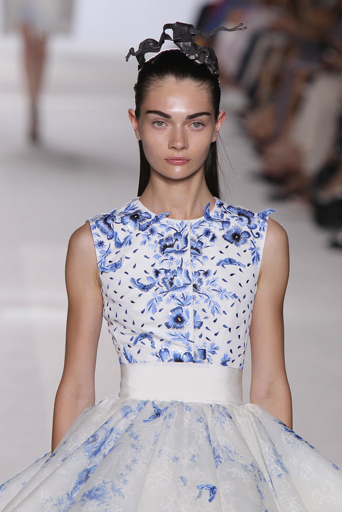 Giambattista Valli Accents Sleek Strands With Metal Artwork