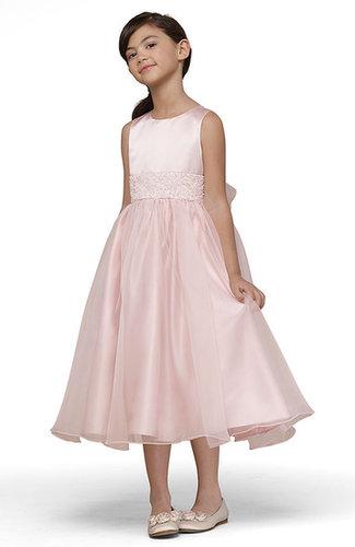 Us Angels Beaded Satin Sleeveless Dress (Toddler, Little Girls & Big Girls)