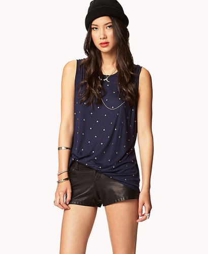 FOREVER 21 Star Studded Muscle Tee