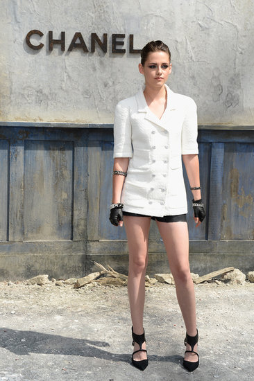Kristen Stewart was among the star-packed audience at the Chanel Haute Couture runway show inside the Grand Palais. Did you like her look?