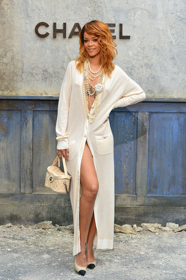 Rihanna popped up in Paris for the Chanel show on Tuesday.