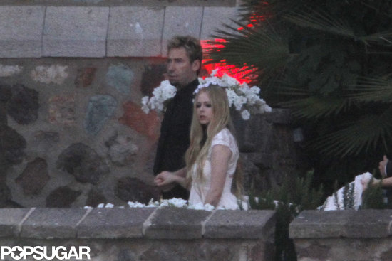 Avril Lavigne and Chad Kroeger celebrated their wedding festivities in France.