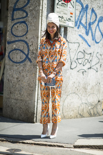 There's nothing like a turban and a pair of PJs to liven up your look. Source: Le 21ème | Adam Katz Sinding