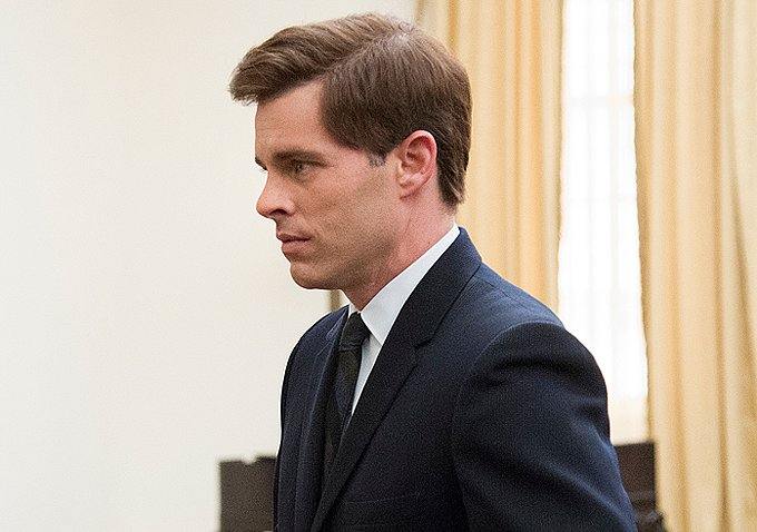 James Marsden as John F. Kennedy in Lee Daniels' The Butler.