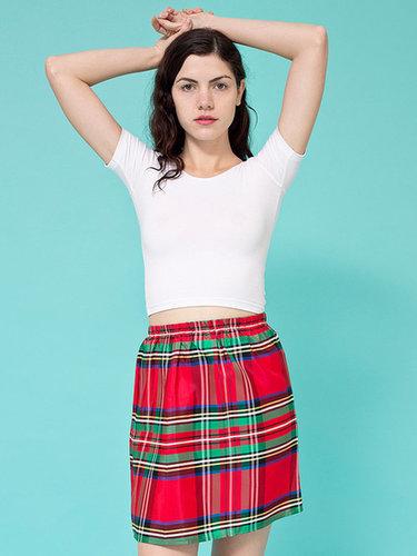 Vintage Tartan Plaid Mini Skirt