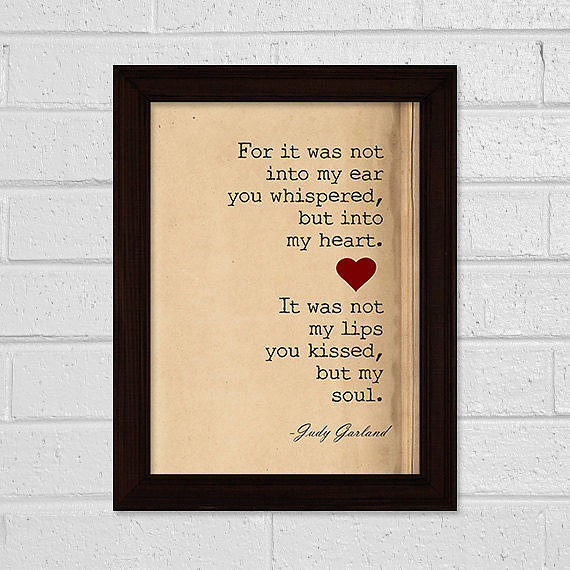 Judy Garland quote ($5)