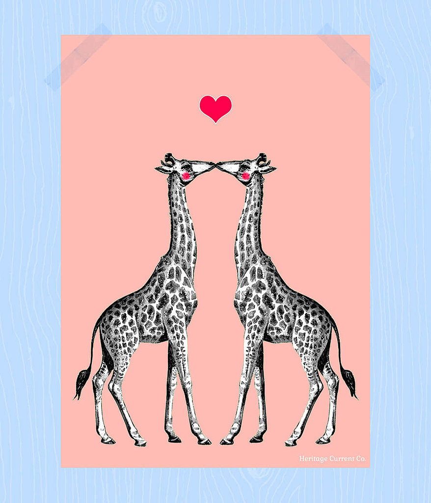 Kissing giraffes ($8)