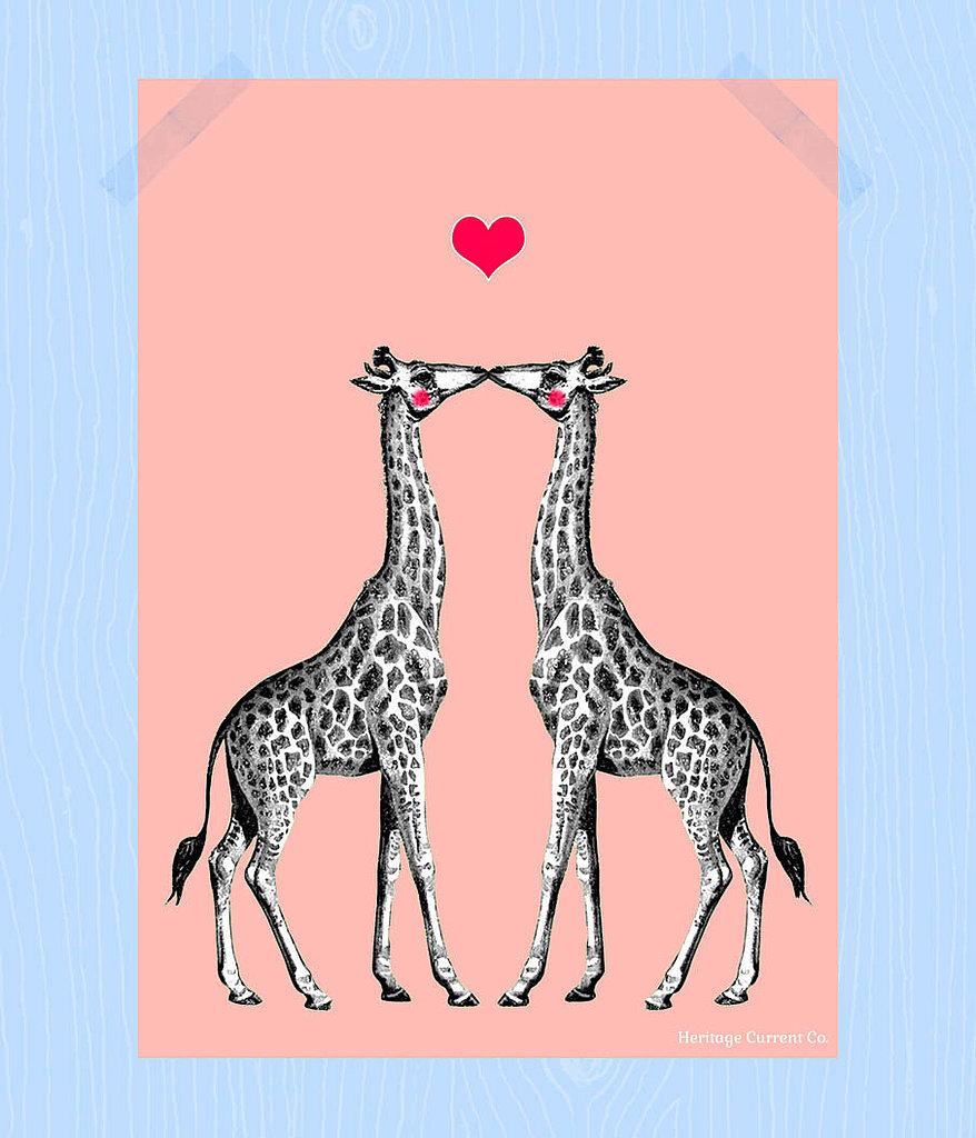 Kissing giraffes ($8)