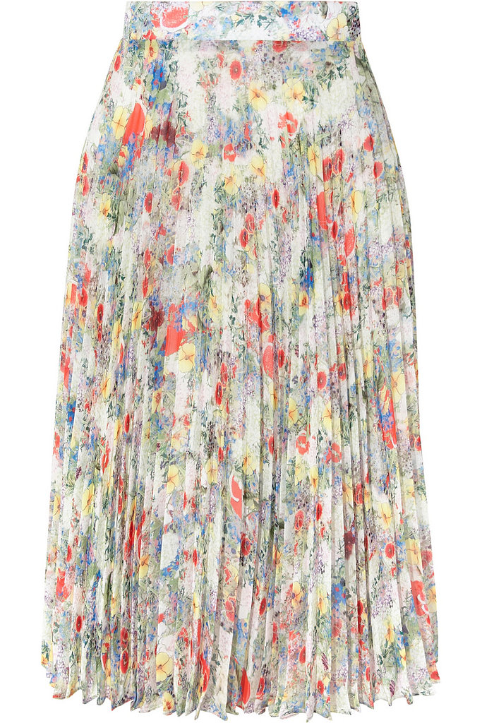 Ez Pleated Floral-Print Chiffon Skirt ($595, originally $1,445)