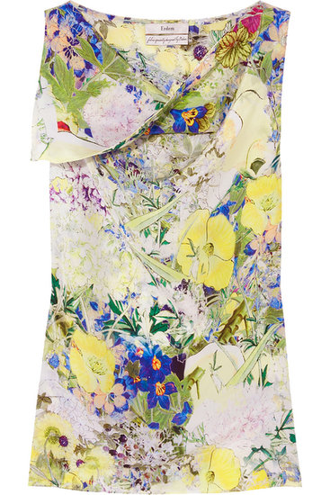 Blair Printed Silk-Crepe Top ($225, originally $495)