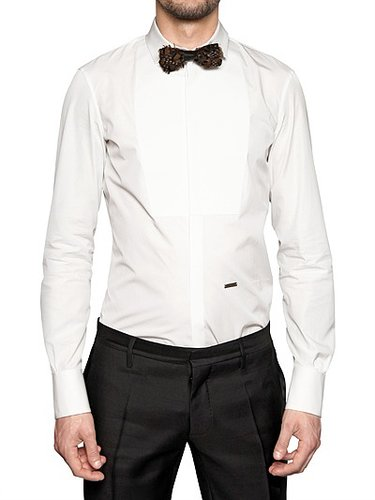 Dsquared - Plastron Chic Cotton Poplin Shirt