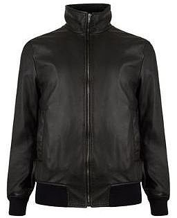 Dolce And Gabbana DOLCE AND GABBANA Plate Logo Zip Leather Bomber