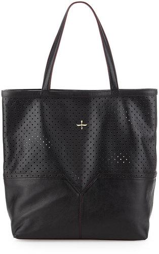 Pour la Victoire Provence Perforated Tote Bag, Black