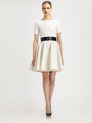 Yves Saint Laurent Knit Flutter Dress